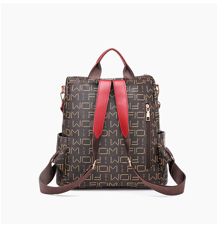 Mulheres do vintage mochila de couro do