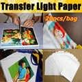 Najlepiej sprzedający się 20 arkuszy/dużo A4 do cięcia papieru światło białe Toner laserowy drukarki termiczne Papier transferowy do Tshirt