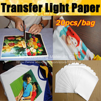 Top selling 20 Sheets/lot A4 Cutting Paper Light White Laser Toner Printer Heat Thermal Transfer Printing Paper For Tshirt