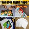 Top verkauf 20 Blätter/lot A4 Schneiden Papier Licht Weiß Laser Toner Drucker Wärme Transfer Druck Papier Für t-shirt