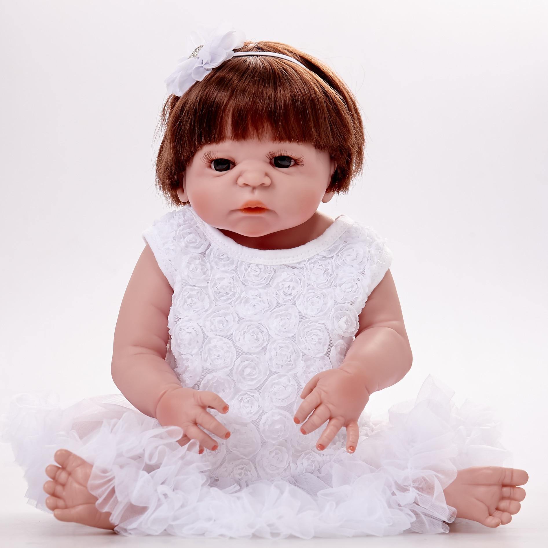 55 Cm Bebe poupée Reborn réaliste nouveau-né poupée cadeau pour enfants anniversaire Reborn poupée pour filles Reborn plein Silicone jouets
