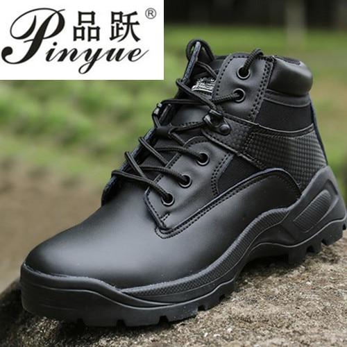 Noir sable Swat hommes tactiques bottines militaires Combat chaussures en cuir automne hiver entraînement en plein air désert bottes taille 39-45