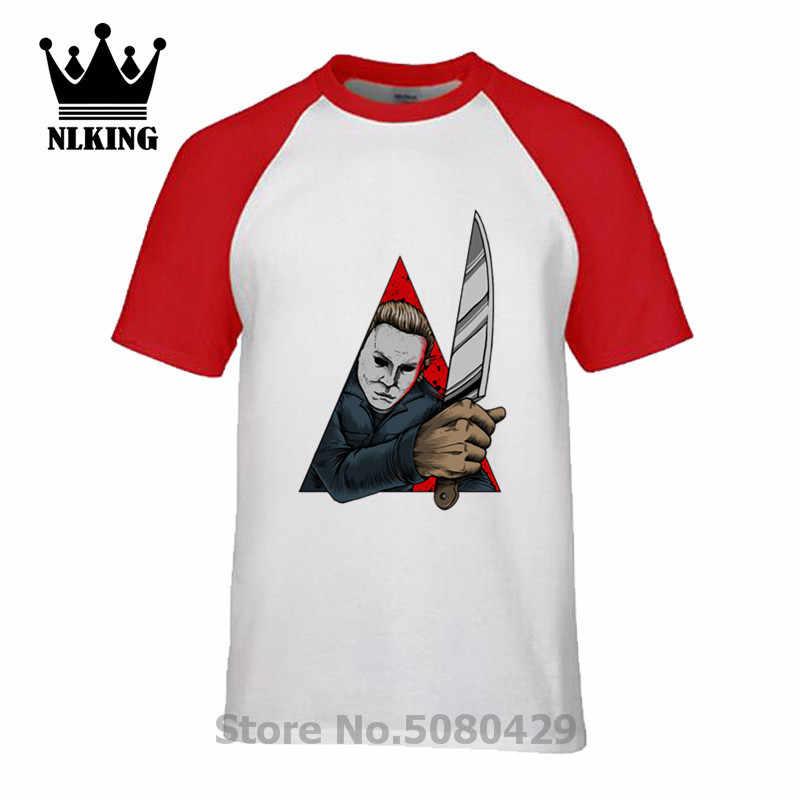 Стильная футболка на Хэллоуин Майкл Майерс ужас Джейсон бензопила звезды Темный Дьявол Футболка мужская заводная убийца Кровавые красные войны Тройник