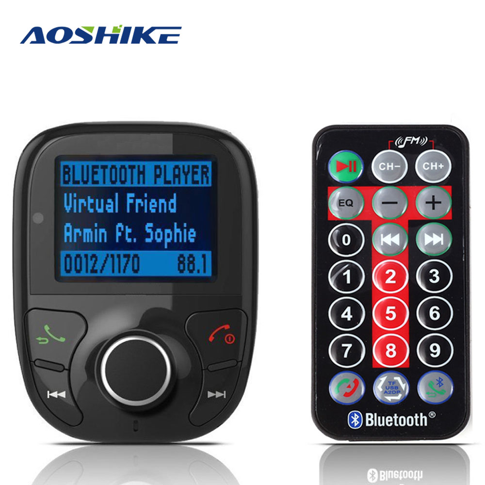 Aoshike FM Transmitter Bluetooth Car TV Modulator Kit MP3 Player FM USB Car Charger Char ...