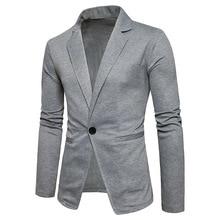2018 hombres chaqueta traje Veste solo botón hombre nueva llegada mens slim fit  chaqueta blazer negro traje gris hombres 2XL z30 cbb6e3f3bb66