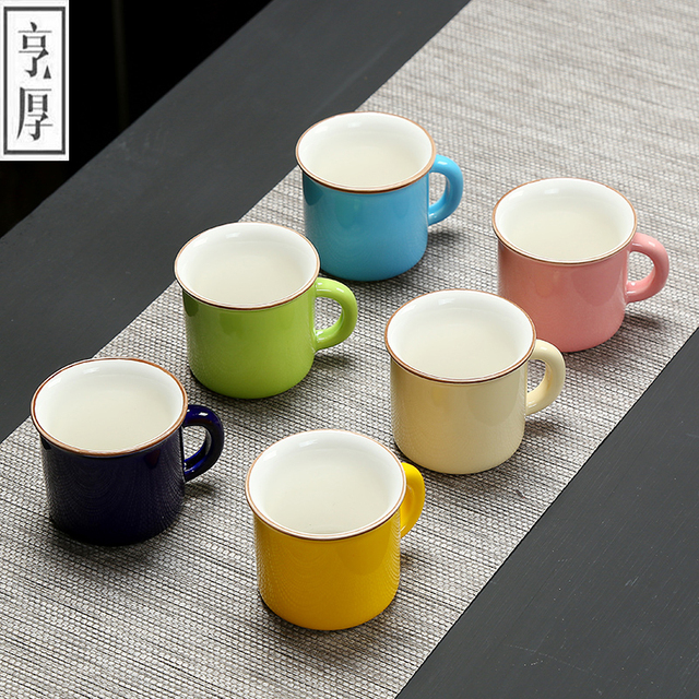 6 Pcs Set Small Coffee Cup Teacup Traditional Chinese Tea Ceramic Advanced Porcelain