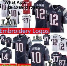 ed353e53 12 Tom Brady New Patriots 10 Josh Gordon Men 87 Rob Gronkowski 11 Julian  Edelman 14