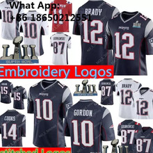 12 Tom Brady New Patriots 10 Josh Gordon Men 87 Rob Gronkowski 11 Julian  Edelman 14 f6140ed64