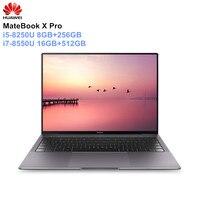 HUAWEI MateBook X Pro 13,9 тетрадь Intel i5 8250U/i7 8550U 8 + 256 ГБ 16 512 GeForce MX150 посвященный графика 3000*2000 Ноутбук