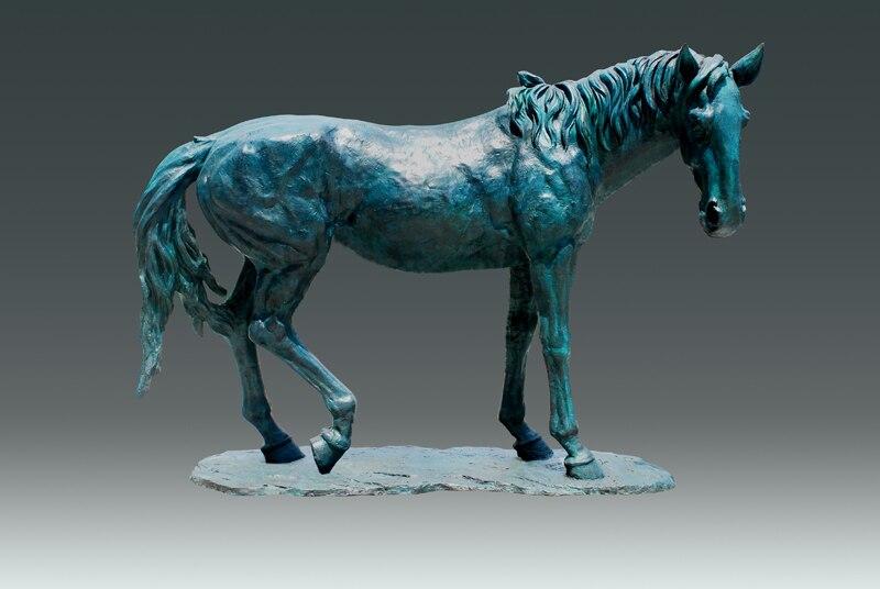 Большой Размер внутренней Декор Лошадь статуя сад Скульптура бронзы в натуральную величину животного estatua Статуи вилла украшения