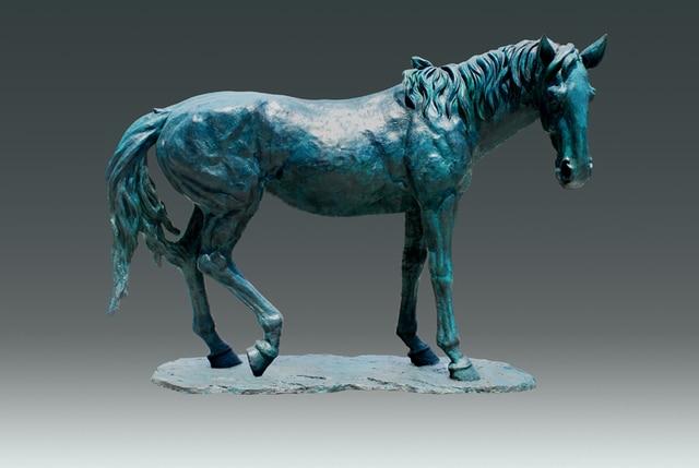 Large Size Ourdoor Decor Horse Statue Garden Sculpture Bronze Life Size  Animal Estatua Statues Villa Decoration