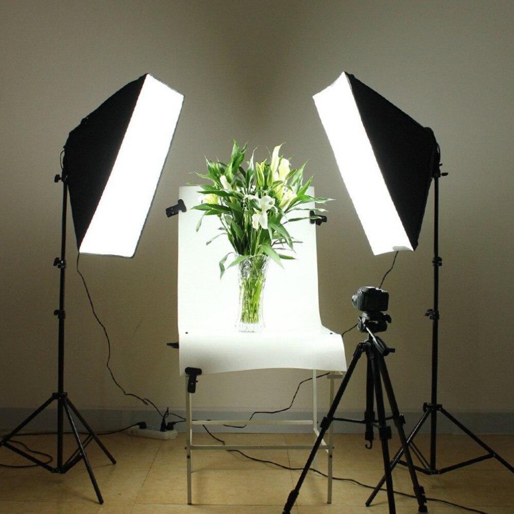 Photography 70x50cm Softbox Studio Lighting Lightbox with 4Lamp Socket Photo Flash Speedlite Studio Shooting Diffuser With Stand