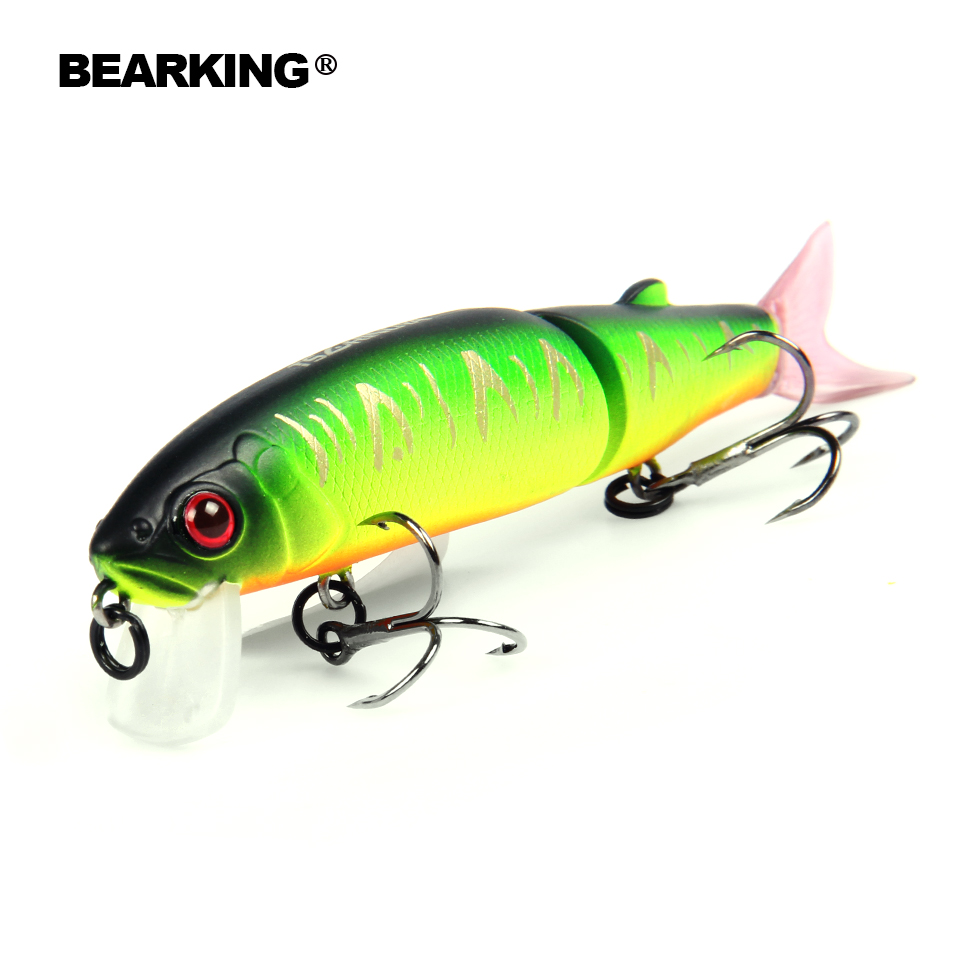 2017 hot model merek Bearking 11.3 cm 13.7g Memancing Wobblers Fishing Lure Swimbait Crankbait dengan 2x Kait