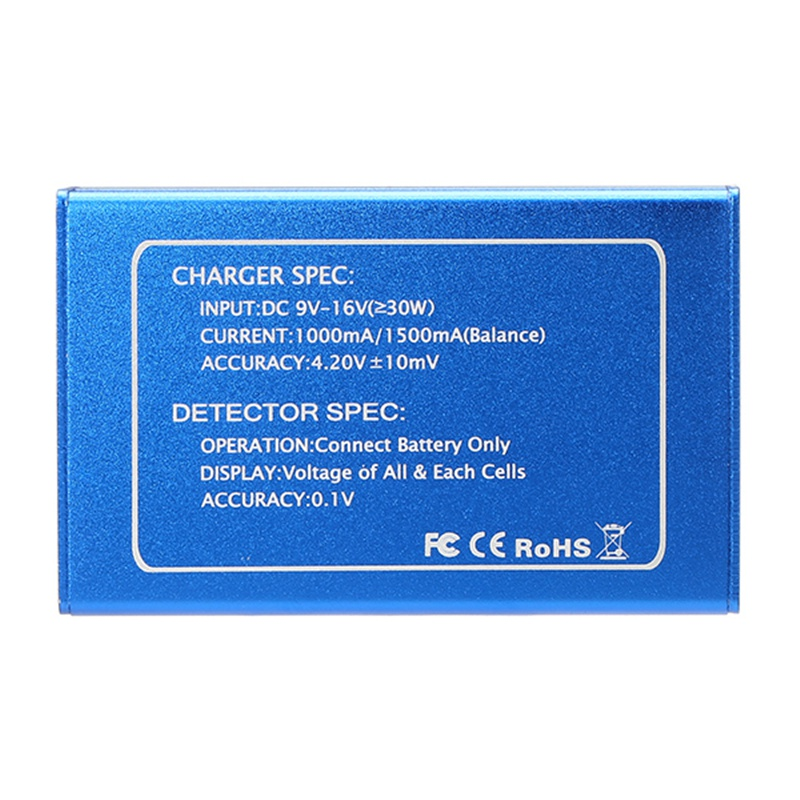 Original Charsoon DC-4S 2-4S Digital Screen Li-poly/Li-ion Battery Balance Charger Voltage Detector Power Adapter For RC Models
