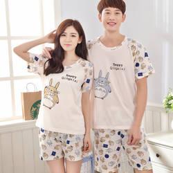 Летние Для мужчин Пижамы для девочек пары пижамы Для женщин пижамы Pijama Hombre masculino Тоторо Пижама Для мужчин пижамы Хлопок Домашняя одежда