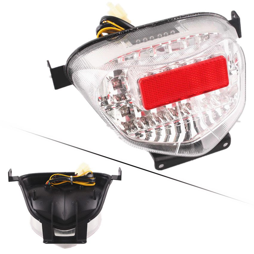 LED Turn Signal Tail Light for <font><b>Suzuki</b></font> <font><b>GSXR1000</b></font> <font><b>K1</b></font> K2 2001 2002 GSXR 1000 Rear Brake Lamp Indicator Clear Motorcycle Accessories image