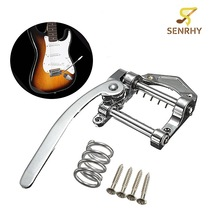 Zinc Alloy Silver Guitar Vibrato Bridge with Screws Guitar Tremolo Bar Bridge Tailpiece For Electric Guitar Part Accessories