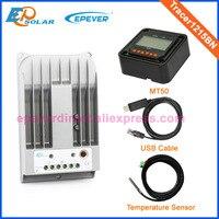 Tracer1215BN MPPT mini solar charge regulators+MT50 remote meter and USB cable connect PC temperature sensor 10A 10amp