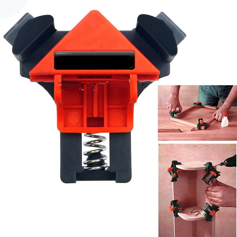 Clamps Fixing Clips For Picture Frame Corner Clamp 90? Right Angle Free Adjustment 5-22mm 10-22mm Woodworking Hand Tool Kit 4Pcs
