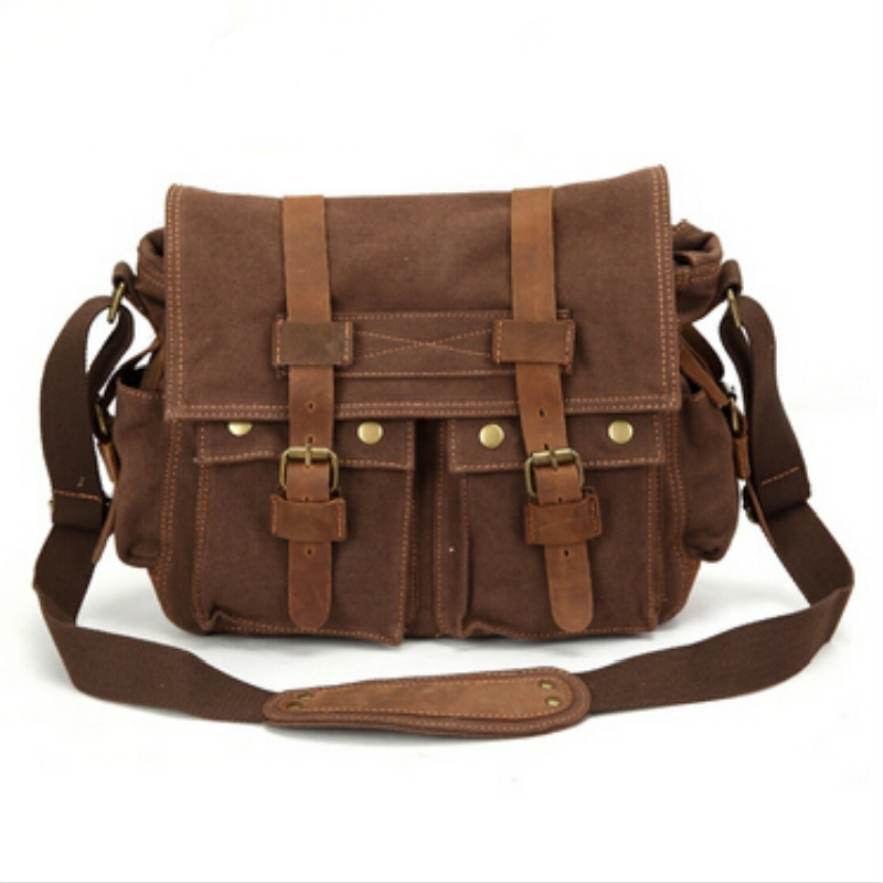 ФОТО 2017 High Quality Solid Men Messenger Bags Casual Men Canvas Bag Brand Crossbody Men Shoulder Bag Vintage Men's Travel Bags CS05