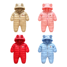 Vinnytido Winter Baby Rompers Warm Girls Boys Hooded Jumpsuit Newborn Outwear Coat Infant Snowsuit hot newborn baby rompers winter thermal snowsuit jumpsuit cute baby warm hooded baby clothes outerwear clothing new sale