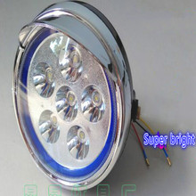 Super bright universal 12-85v motorcycle headlight led 7inch free shipping