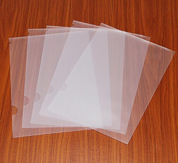 2-15 Clear Paper File Folder Sleeve Document Bag A4 Size Office/School Supply L Shape m&g a4 single clip transparent two page file sleeve l type folder file bag office supplies 30pcs