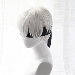 Image 4 - High quality YoRHa No.2 Type B 2BYoRH 2A 9S 2B wig Cosplay Wig NieR:Automata Costume Play Wigs Costumes Hair +Wig Cap