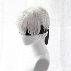 Image 4 - גבוהה באיכות YoRHa מס 2 סוג B 2BYoRH 2A 9S 2B פאת פאת קוספליי NieR: האוטומטים תלבושות לשחק פאות תלבושות שיער + כובע פאה