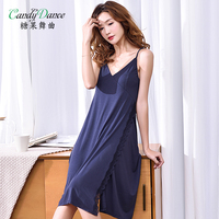 Female's nightgowns summer sleeveless camisole dress sexy solid modal cotton long design plus size sleepdress lady home wear