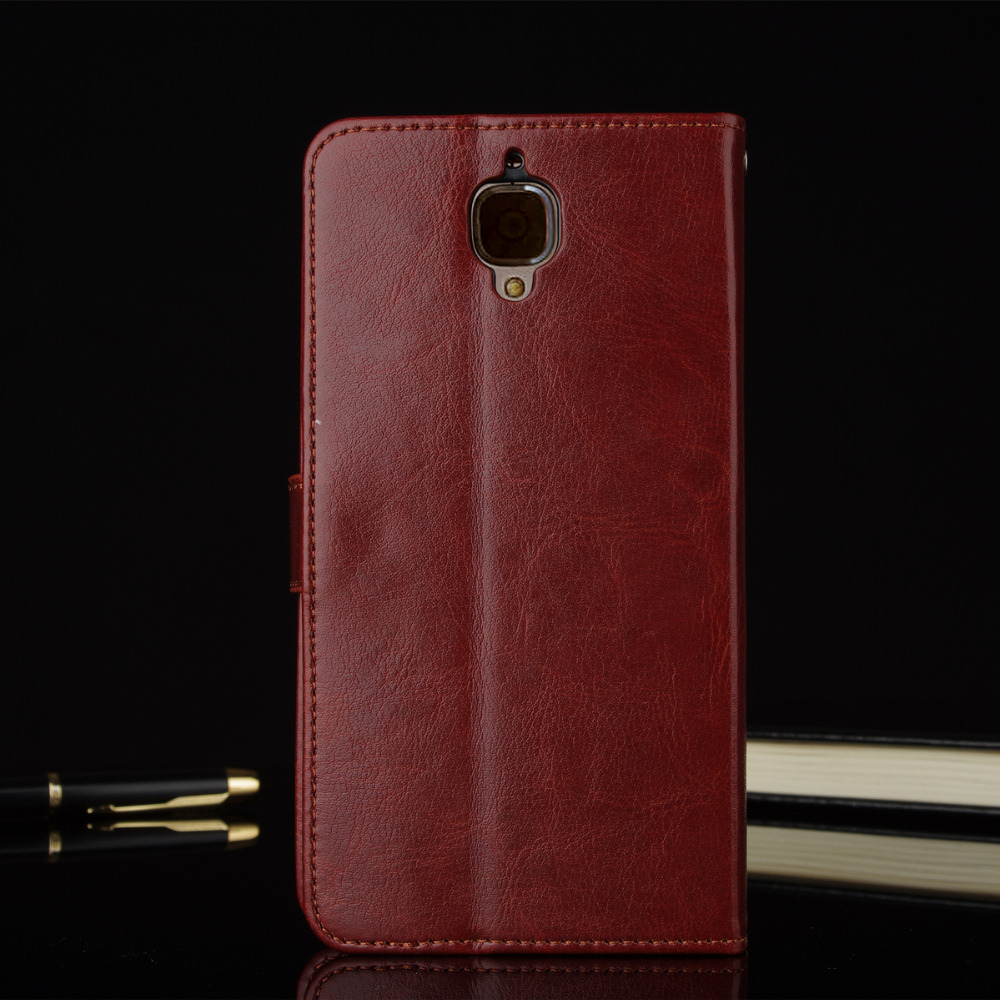 Orgininal Genuine Leather Luxury Cover Case for Oneplus 3t Flip Wallet Coque 3