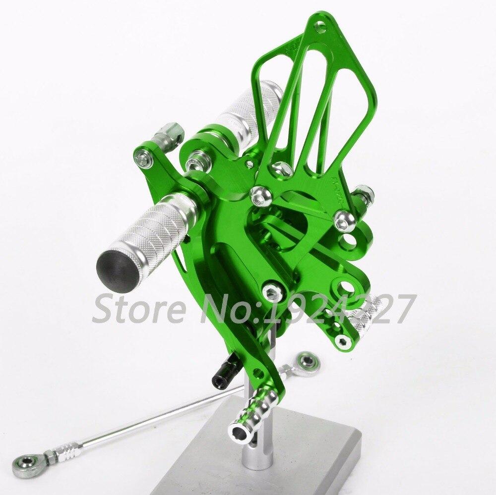 CNC Foot Pegs Rearsets Rear Sets Brake Shift Motorcycle For Kawasaki NINJA 250R /EX250 2008-2012 Hot Sale High-quality