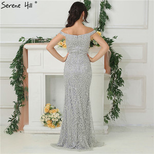 Image 5 - 2020 Luxury High end Fashion Mermaid Evening Dresses Newest Diamond Sequined Sexy Formal Dress  Real Photo LA6406
