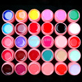 New DIY 30 Pcs Color Mix Solid Pure Nail Art UV Builder Gel Set for Acrylic Tips white pot