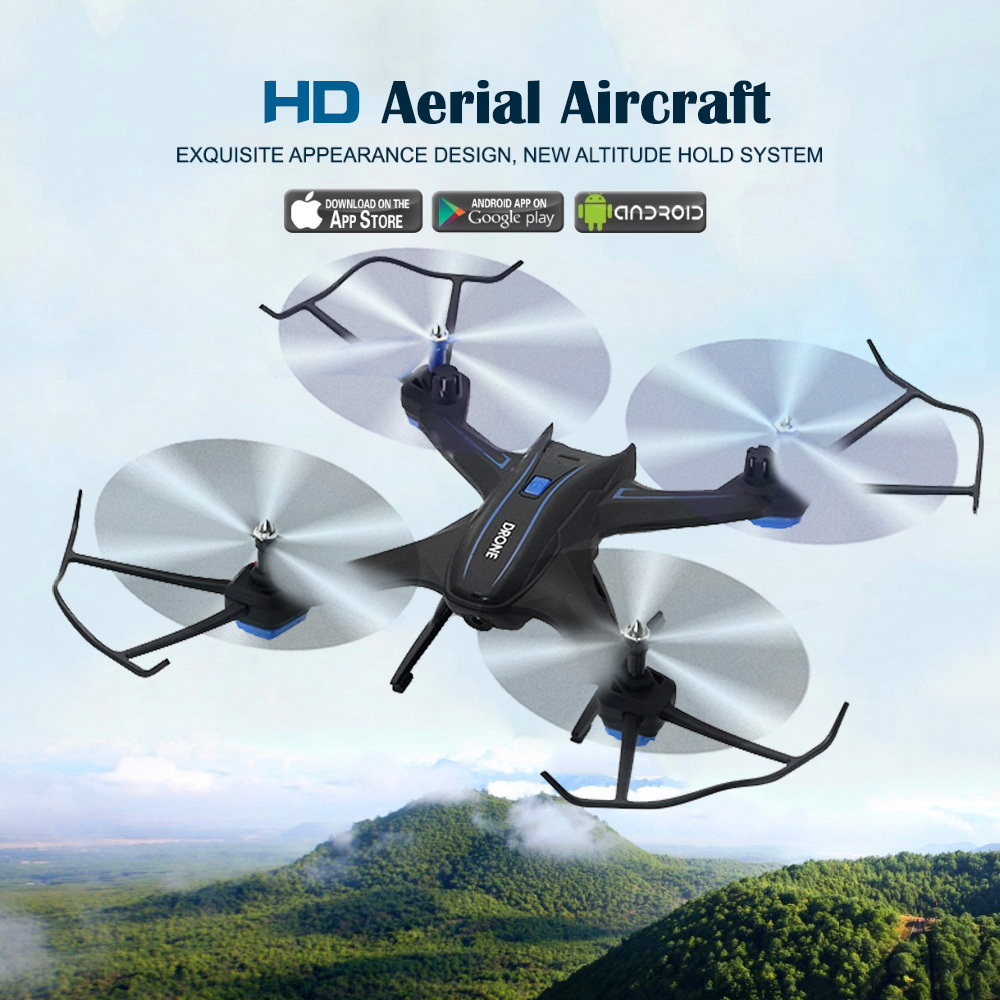 Drone With Camera RC Helicopter 2.4GHz 6-Axis Gyro WIFI FPV RC Drone With 2.0MP HD RC Quadcopter original xiaomi camera drone hd 4k wifi fpv 5ghz quadcopter 6 axis gyro 3840 x 2160p 30fps rc quadcopters with pointing flight