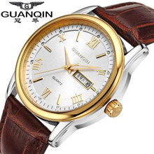 цена на Original GUANQIN Men Watch Big Dial Casual Quartz Watch Stainless Steel Military Watches Waterproof Brand Relogio Masculino Male