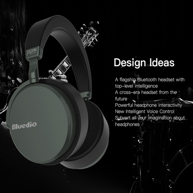 Bluedio V2 Wireless Bluetooth Headphones High-end Earphone HiFi Headset  PPS12 Drivers With Microphone For Phone Calls And Music