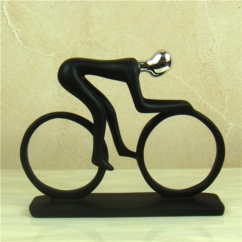 Abstract Sportsman Figurine Electroplated Resin Athlete Figure Miniature Competition Sport Souvenir  2
