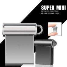 Новый высококачественный водонепроницаемый металлический мини-usb флэш-накопитель 16 ГБ 32 ГБ 64 ГБ 128 ГБ 8 ГБ Флешка флеш-накопитель USB 2,0