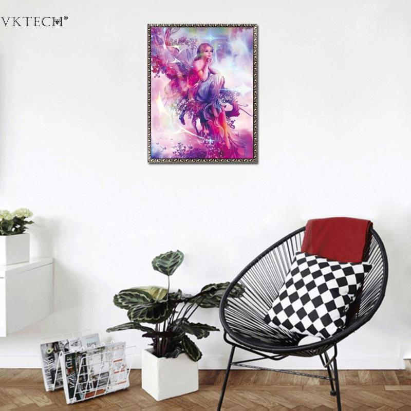 f3d182930d Fairy 5D Diamond Painting DIY Charming Beauty Butterfly Fairy Paints Cross  Stitch Crystal Portrait Embroidery Home Room Decor-in Diamond Painting Cross  ...