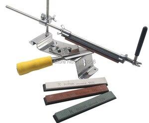 Image 5 - مسن سكاكين من الفولاذ المقاوم للصدأ ، مسن سكاكين مطبخ احترافي ، زاوية تثبيت ثابتة مع الأحجار