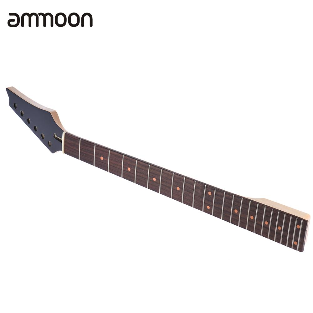 High Quality 24 Frets Guitar Neck New Replacement Maple Neck Rosewood Fretboard Fingerboard For Electric Guitar