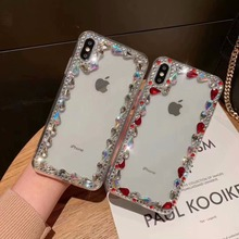 XINGDUO  Bling Lovely Crystal Diamonds Rhinestone Phone Case For iphone 6 6S 7 8 Plus X XS MAX XR Big Stones Fashion Shell