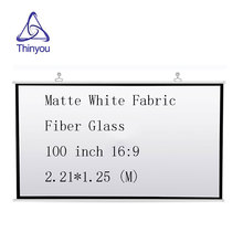 Thinyou projector screen 100 inch 16:9 Matte White Fabric Fiber Glass High-definition Screen Wall  for Wall Mounted Home Theater
