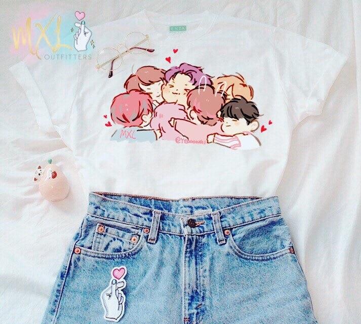 Hahayule BTS KPOP T Shirt SUGA V Jimin Album Live Print K Pop Bts Shirts Hip Hop Bts K-pop TShirt Short Sleeve