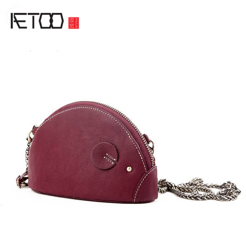 AETOO Leather thin chain bag female bag Messenger bag 2017 new wild Korean mini personalized fashion shoulder bag qiaobao 2018 new korean version of the first layer of women s leather packet messenger bag female shoulder diagonal cross bag