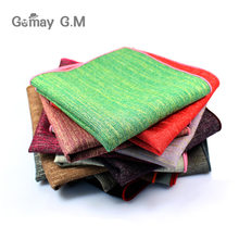 Fashion Men's Handkerchief Classic Cotton Pocket Square High Quality Male Pocket Towels Wedding Accessories Hand Towel(China)