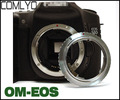 Comlyo adaptador para lentes olympus om lente para canon para eos ef montaje de cámara anillo adaptador con electrónica/enfoque infinito 600d