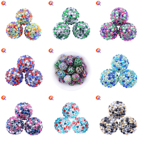 Cordial Design Choose Color 20MM 100Pcs Lot Fashion Handmade Mix Colors Resin Rhinestone Ball Beads For
