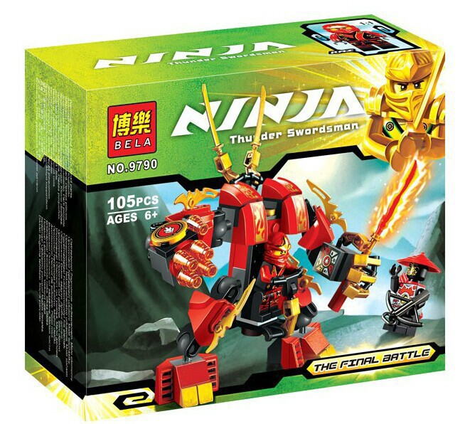 Factory sales Phantom Ninja Kais Fire Mech Building Blocks Christmas Toys Gift Ninja Minifigure Compatible with